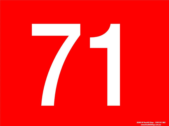 Red 71-80 Dock Sign - Signs - RackID Shop