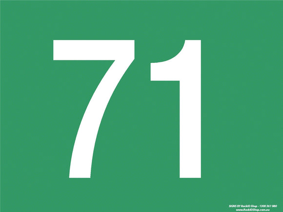 Green 71-80 Dock Sign-Signs-RackID Shop