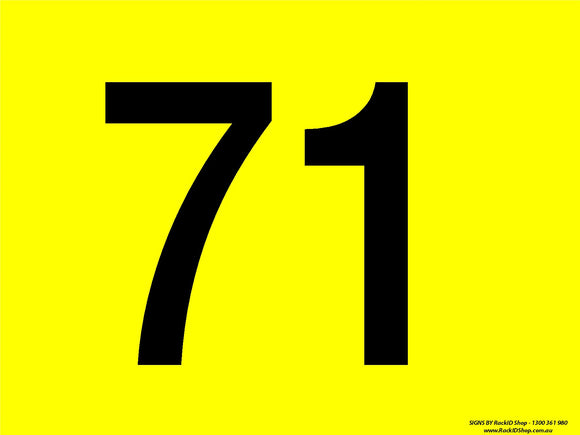 Yellow 71-80 - Signs - RackID Shop