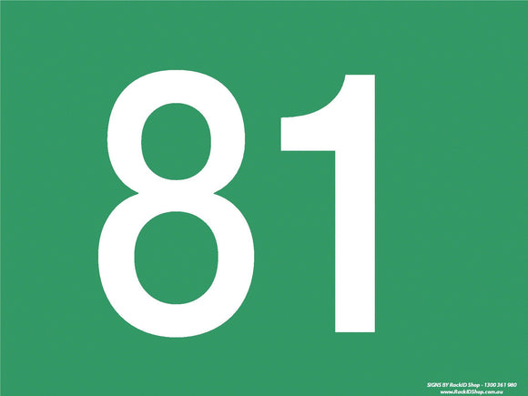 Green 81-90 Dock Sign-Signs-RackID Shop
