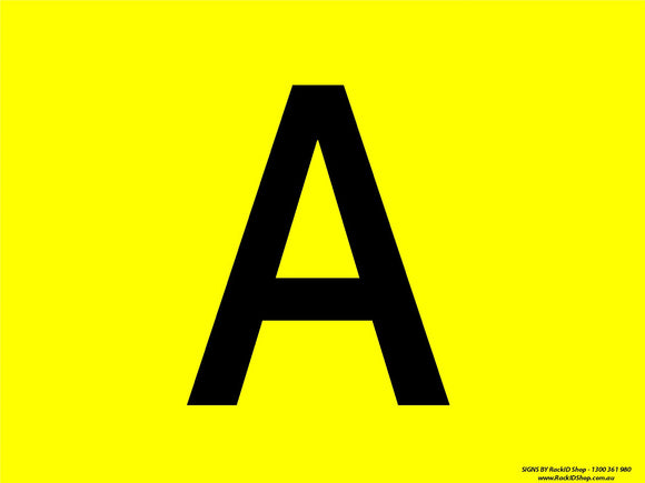 Yellow A-M - Signs - RackID Shop