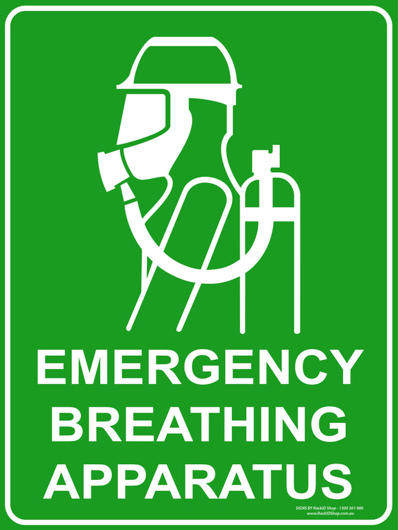 BREATHING APPARATUS  OUTDOORS - Signs - RackID Shop