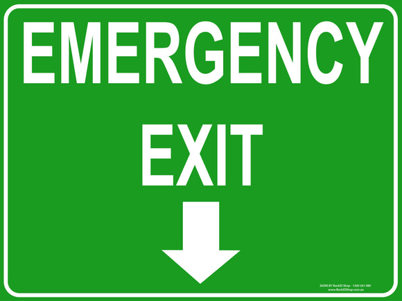 EXIT EMERGENCY OUTDOORS-Signs-RackID Shop