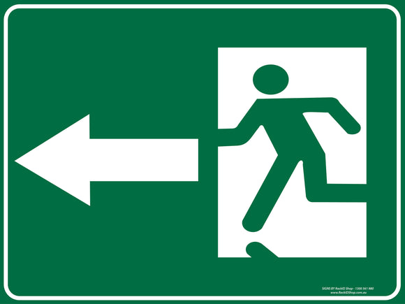EXIT LEFT OUTDOORS-Signs-RackID Shop