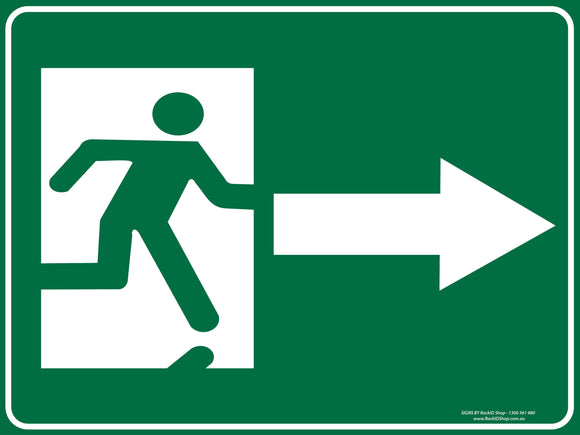 EXIT RIGHT-Signs-RackID Shop