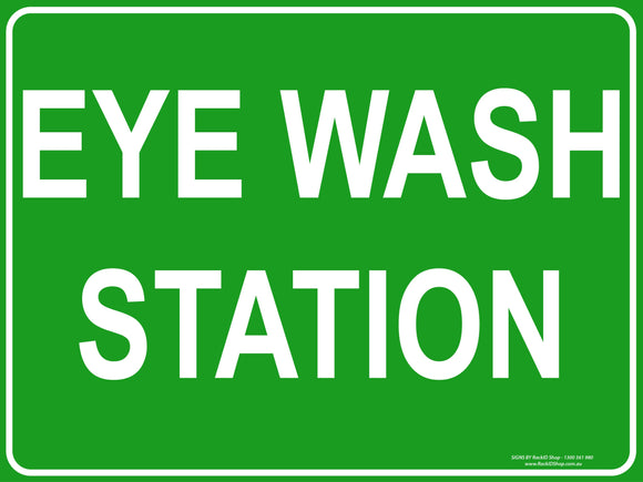 EYE WASH STATION OUTDOORS-Signs-RackID Shop
