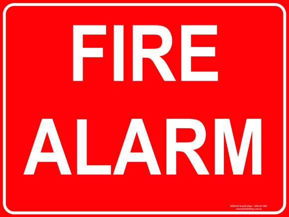 FIRE ALARM OUTDOORS-Signs-RackID Shop