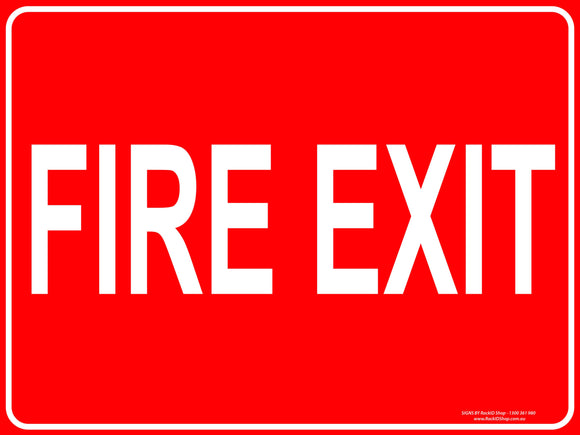 FIRE EXIT - Signs - RackID Shop