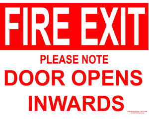 FIRE EXIT DOOR INWARDS OUTDOORS-Signs-RackID Shop