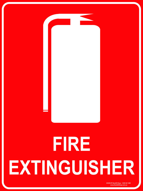 FIRE EXTINGUISHER OUTDOORS-Signs-RackID Shop