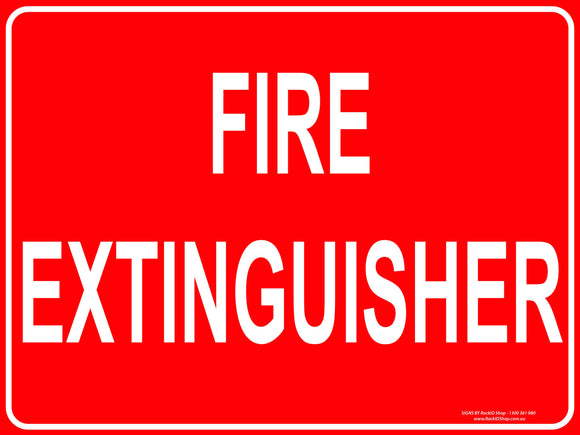 FIRE EXTINGUISHER TEXT OUTDOORS-Signs-RackID Shop