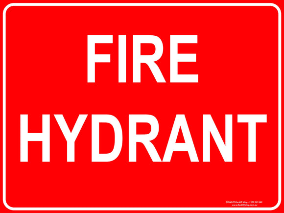 FIRE HYDRANT - Signs - RackID Shop