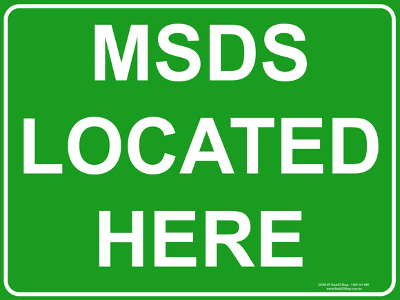 MSDS LOCATED HERE - Signs - RackID Shop