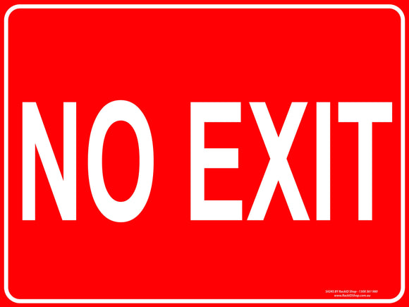 NO EXIT - Signs - RackID Shop