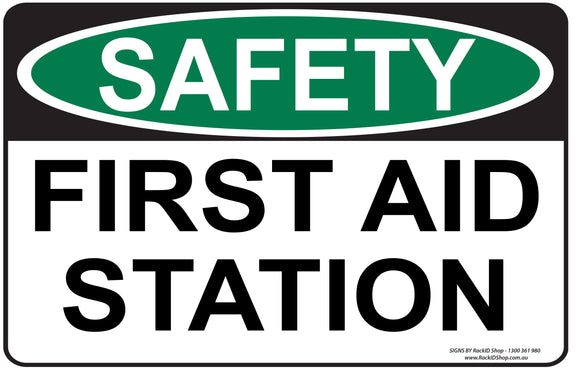 FIRST AID STATION OUTDOORS-Signs-RackID Shop