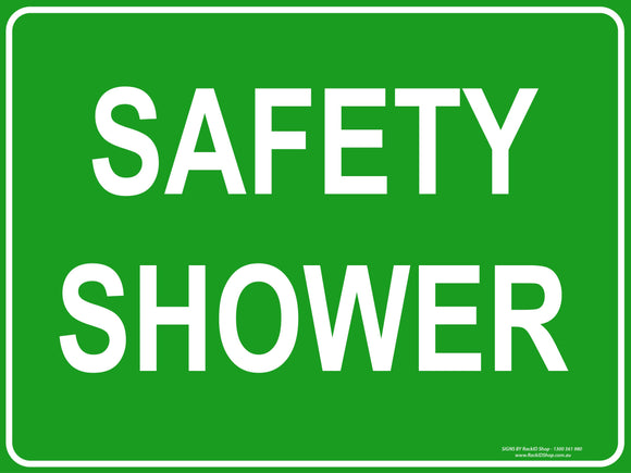 SAFETY SHOWER OUTDOORS-Signs-RackID Shop