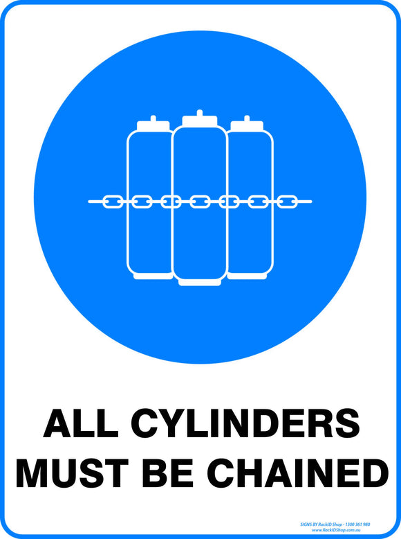 ALL CYLINDERS MUST BE CHANGED OUTDOORS - Signs - RackID Shop