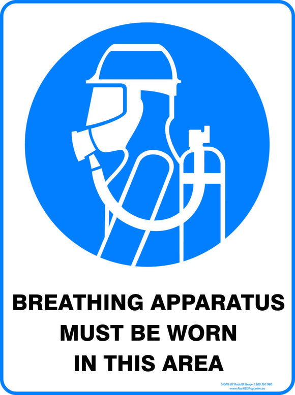 BREATHING APPARATUS MUST BE USED OUTDOORS-Signs-RackID Shop