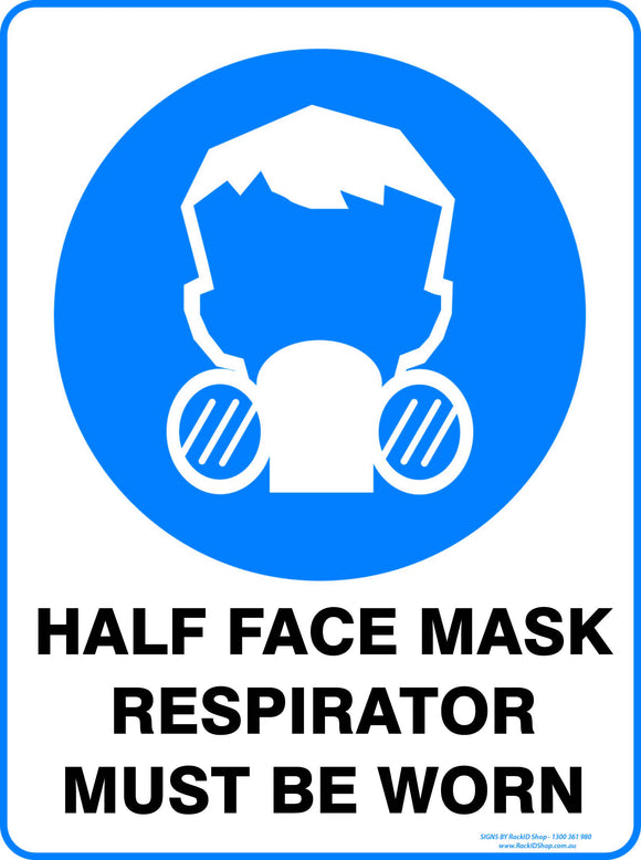 HALF FACE MASK RESPIRATOR-Signs-RackID Shop