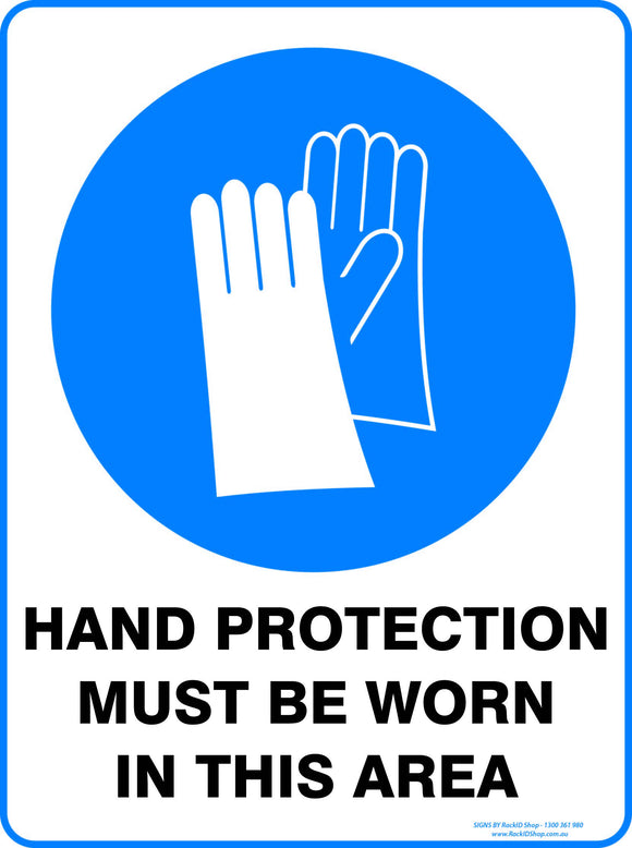 HAND PROTECTION MUST BE USED - Signs - RackID Shop