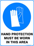 HAND PROTECTION MUST BE USED OUTDOORS-Signs-RackID Shop