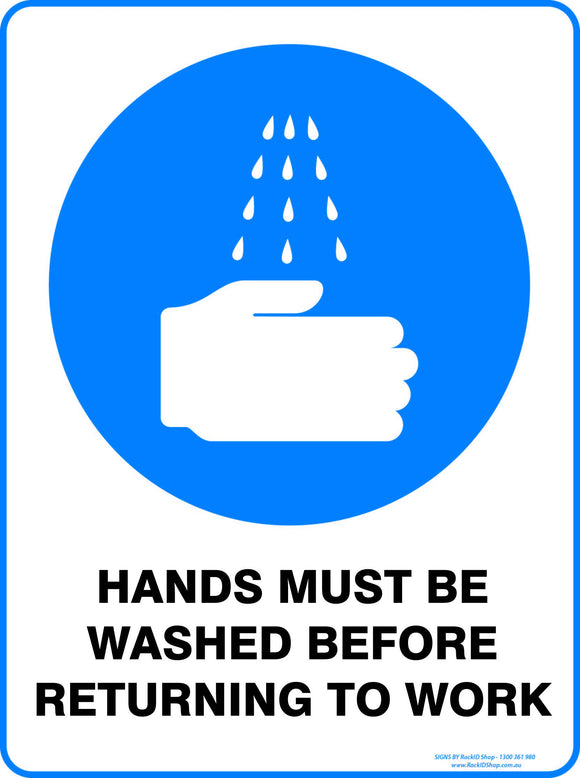 HANDS MUST BE WASHED OUTDOORS-Signs-RackID Shop