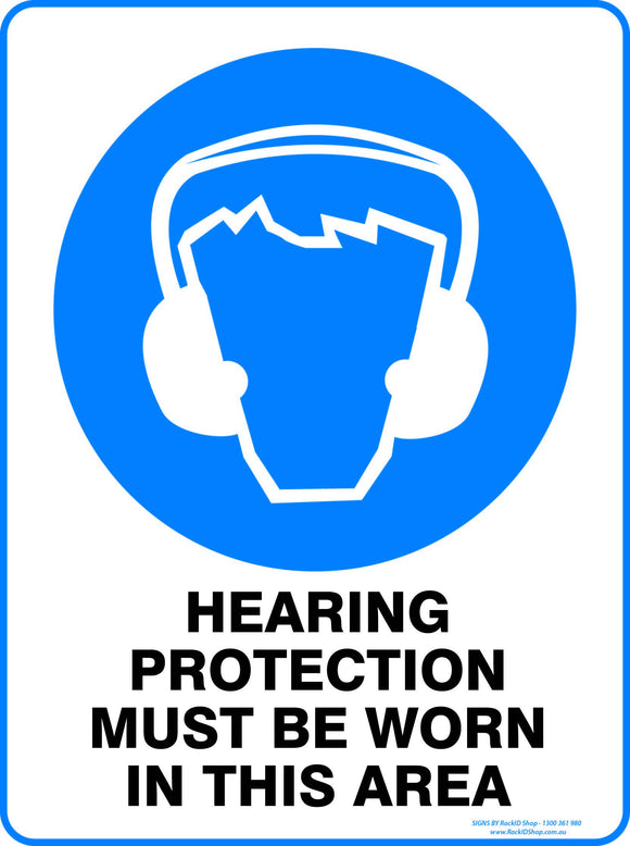 HEARING PROTECTION MUST BE WORN OUTDOORS-Signs-RackID Shop