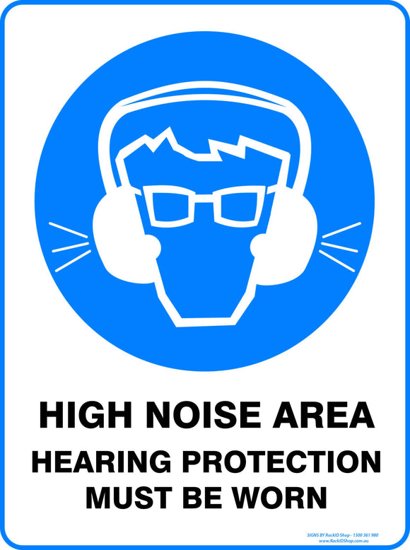 HIGH NOISE AREA OUTDOORS-Signs-RackID Shop