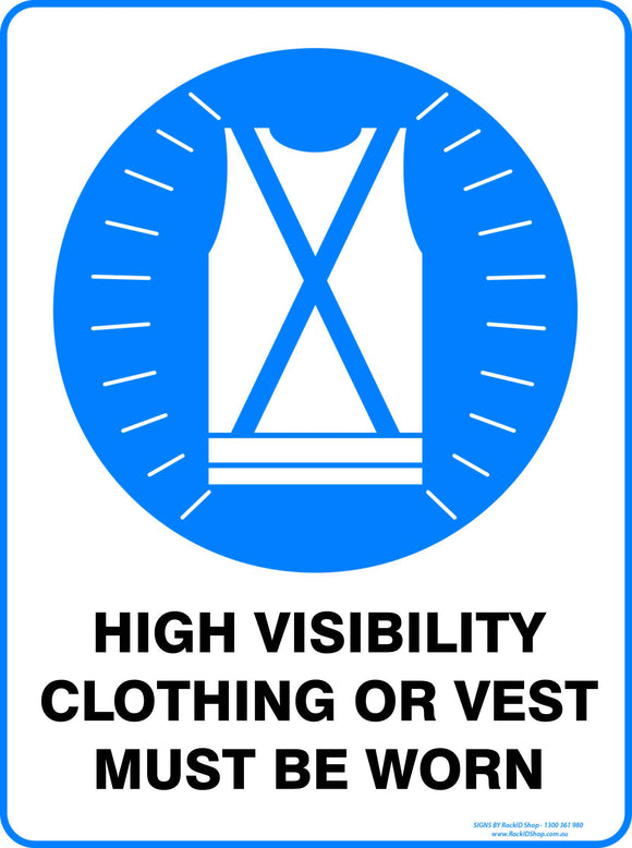 HIGH VISIBILITY CLOTHING OUTDOORS-Signs-RackID Shop