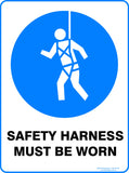 SAFETY HARNESS MUST BE WORN-Signs-RackID Shop
