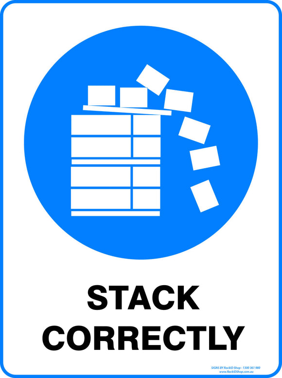 STACK CORRECTLY OUTDOORS-Signs-RackID Shop
