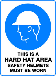 THIS IS A HARD HAT AREA OUTDOORS-Signs-RackID Shop