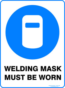 WELDING MASK MUST BE WORN-Signs-RackID Shop