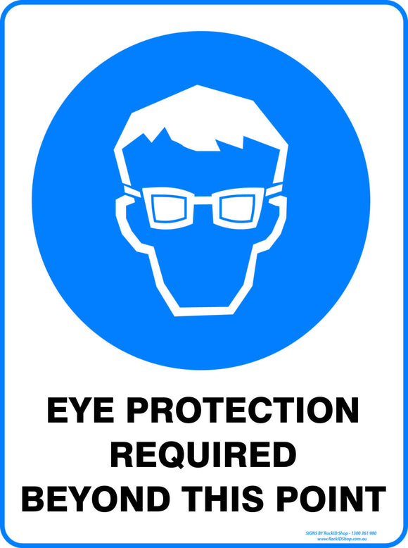 EYE PROTECTION REQUIRED OUTDOORS-Signs-RackID Shop