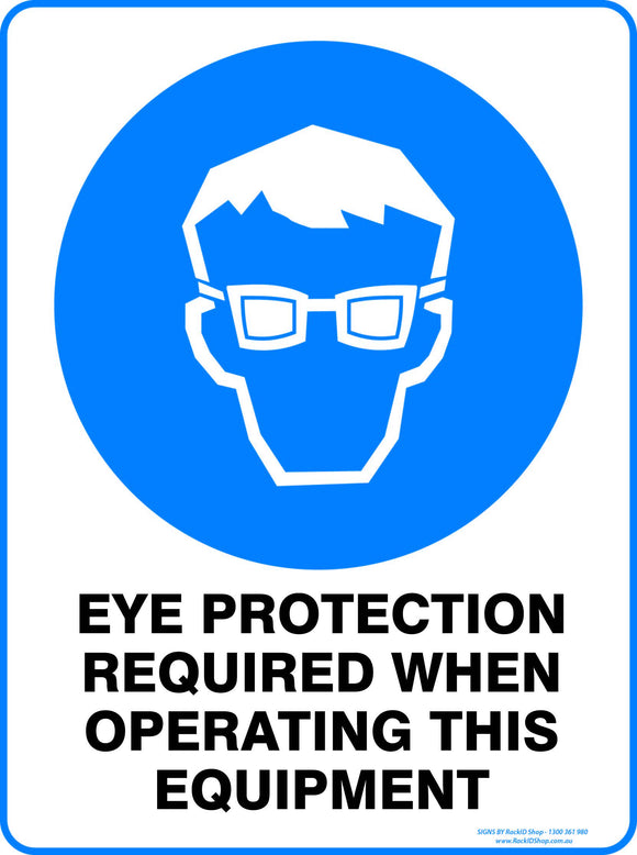 EYE PROTECTION WHEN OPERATING - Signs - RackID Shop