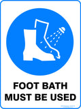 FOOT BATH MUST BE USED OUTDOORS-Signs-RackID Shop