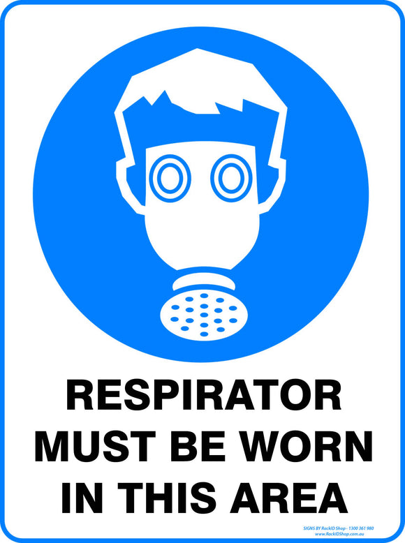 RESPIRATOR MUST BE WORN OUTDOORS-Signs-RackID Shop