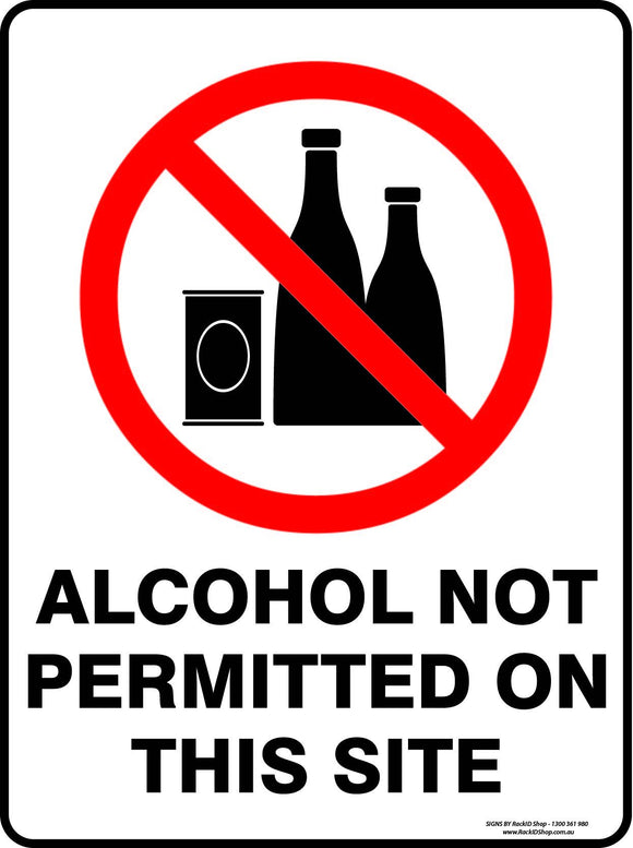 ALCOHOL NOT PERMITTED OUTDOORS-Signs-RackID Shop