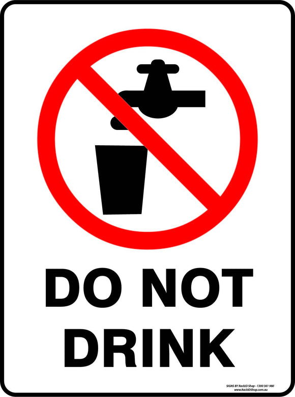 DO NOT DRINK OUTDOORS - Signs - RackID Shop