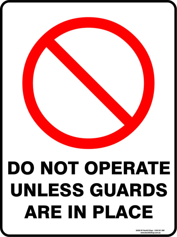 DO NOT OPERATE UNLESS GUARDS-Signs-RackID Shop