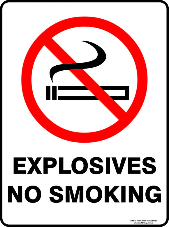 EXPLOSIVES NO SMOKING-Signs-RackID Shop