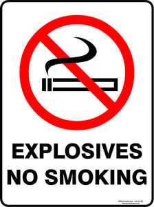 EXPLOSIVES NO SMOKING OUTDOORS-Signs-RackID Shop
