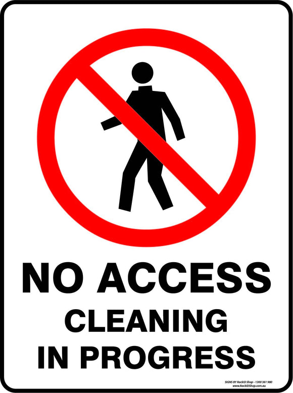 NO ACCESS CLEANING-Signs-RackID Shop
