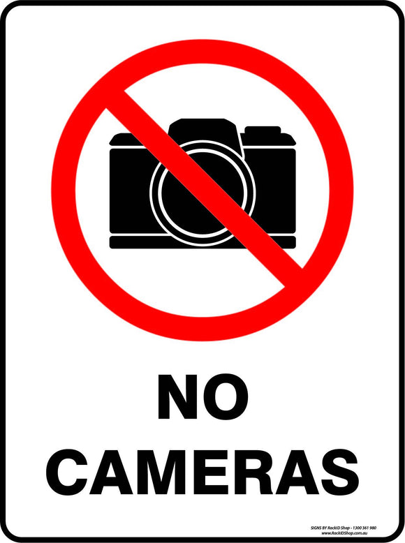 NO CAMERAS-Signs-RackID Shop