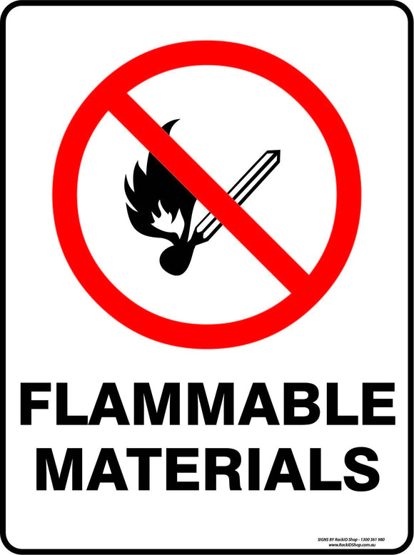 FLAMMABLE MATERIALS-Signs-RackID Shop