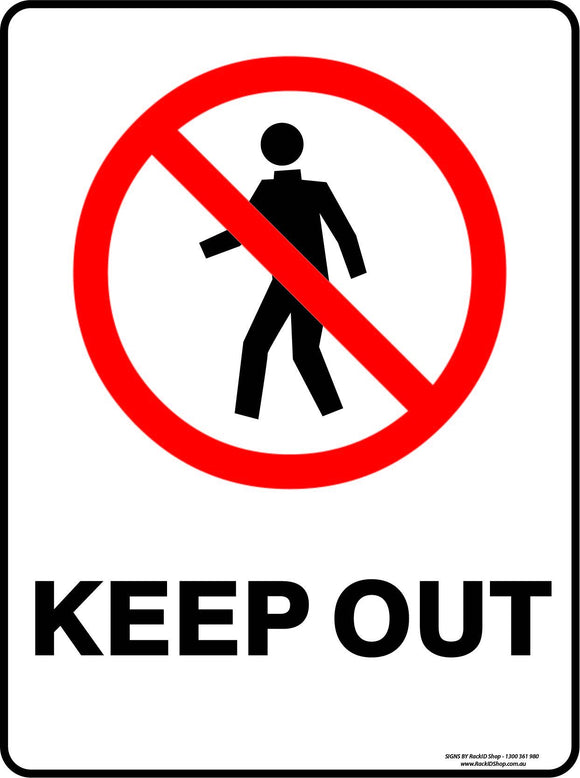 KEEP OUT-Signs-RackID Shop