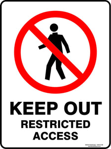 KEEO OUT RESTRICTED ACCESS OUTDOORS-Signs-RackID Shop