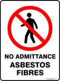 NO ADMITTANCE ASBESTOS OUTDOORS-Signs-RackID Shop