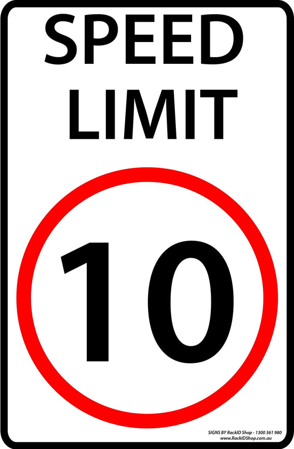 Speed Sign 10km/h Outdoor-Signs-RackID Shop