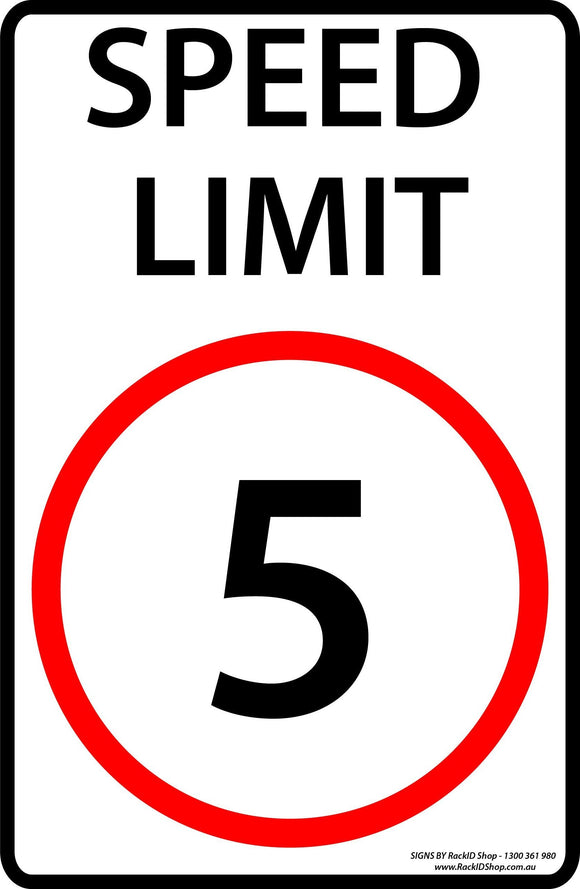 Speed Sign 5km/h Outdoor-Signs-RackID Shop